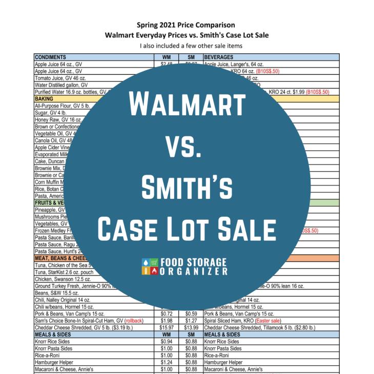 Walmart vs. Smith's Case Lot Sale