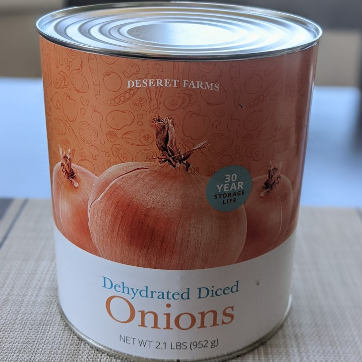 Dehydrated Onions from The Church of Jesus Christ of Latter-day Saints