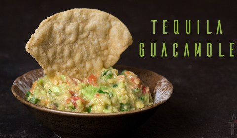 How to make homemade fresh guacamole with a little tequila.