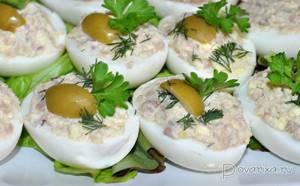 Фаршированные яйца печенью трески рецепт с фото - Едим Дома