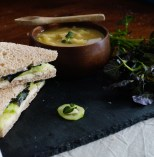 Watercress Sandwiches & Soup | Food Through the Pages
