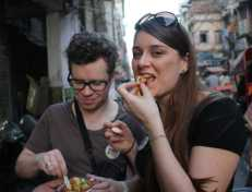 Eating street food in India via an Indian food tour in Delhi