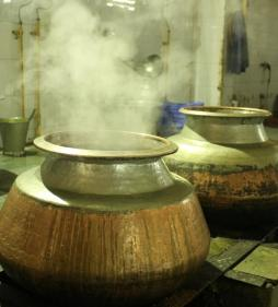 Cooking in traditional Indian way