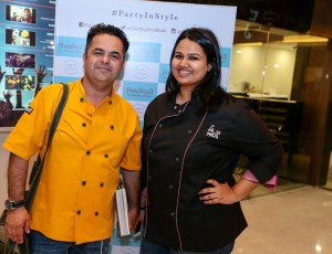Chef Vicky Ratnani with Chef Pooja Dhingra at Foodhall@DLF Place