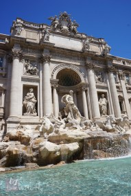 Very difficult to get a shot of the Trevi without a million tourists involved
