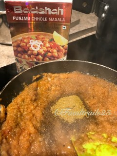 Add Channa Masala(I have used store bought)