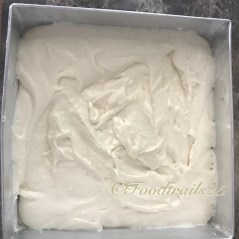 Transfer batter to pan and level it