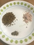 Dry roasted cumin seeds,kala namak(black salt),black pepper