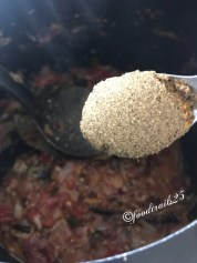 Add tomatoes and fry till mushy(pic missing), add dry garam masala