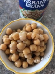 A cup of boiled Chickpeas/Chole/Garbanzo Beans