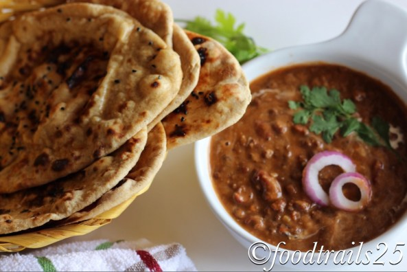 Dal Makhani with Yeast-free Whole Wheat Naan