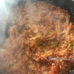 Add mashed brinjal/Eggplant