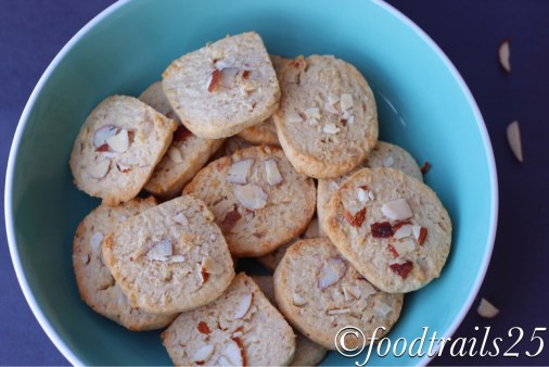 Egg-less Almond and Coconut Cookies