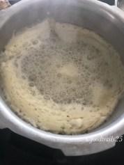 Let it boil, when foam comes on the top