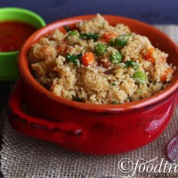 Mix Veg Daliya/Broken Wheat  Pilaf or Pulao