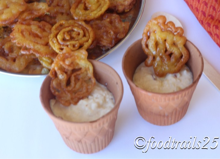 Crispy Jalebi with Rabri