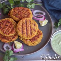 Chana Dal and Yam Kebabs