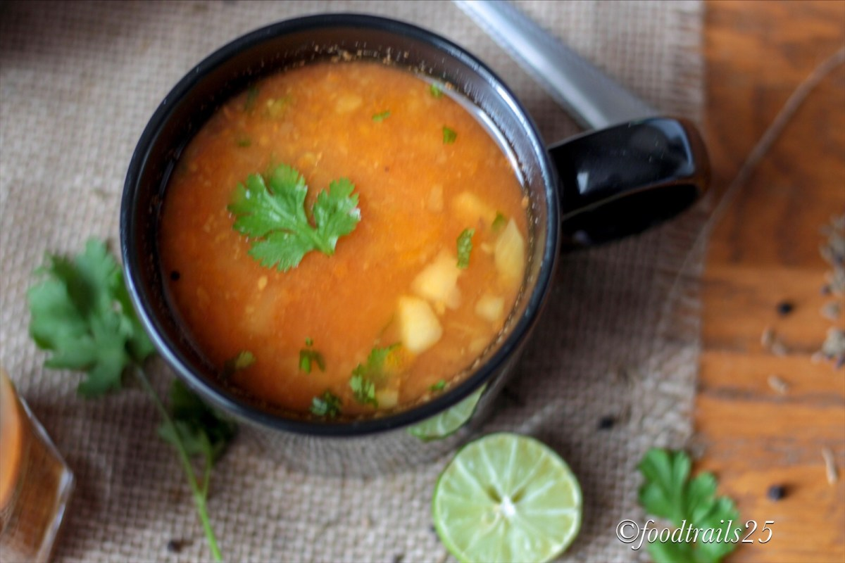 Apple Rasam/Apple and Tomato Soup