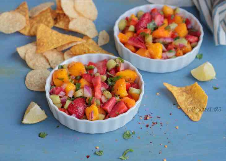 Mango and Strawberry Salsa