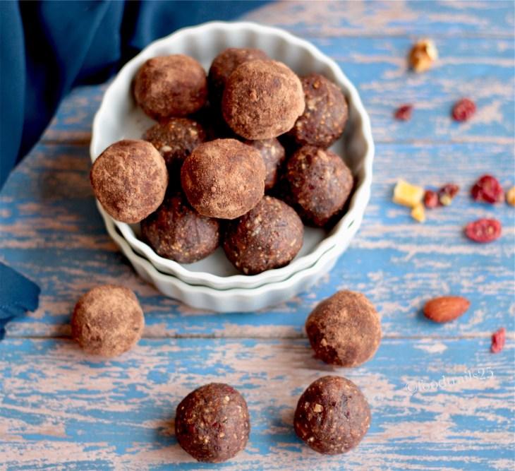 Ragi, Dried Fruits and Nuts Ladoos