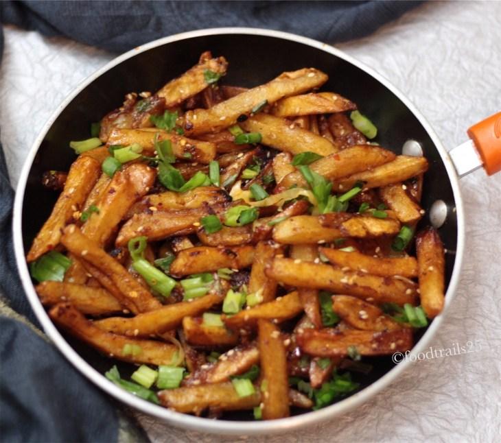 Restaurant Style Honey Chilli Potatoes