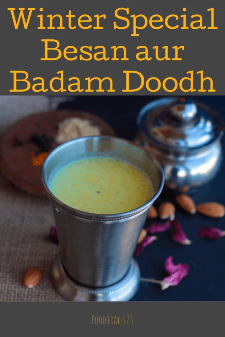 Winter Special Besan Aur Badam Doodh