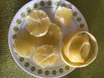 Peel and slice lemon
