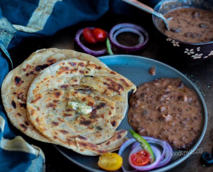 Lachha PArantha with Dal Makhani