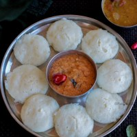 Instant Idli with Cooked Rice