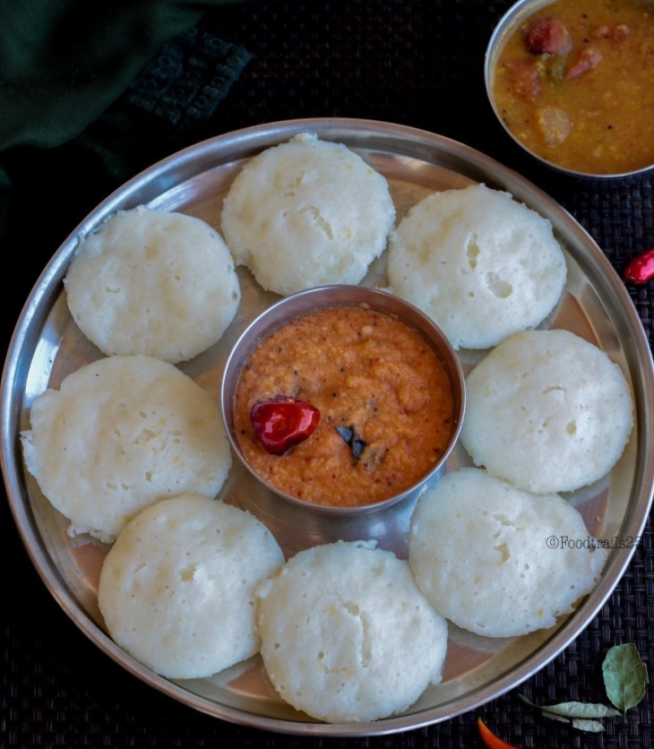 Instant Idli with Cooked riceInstant Idli with Cooked rice