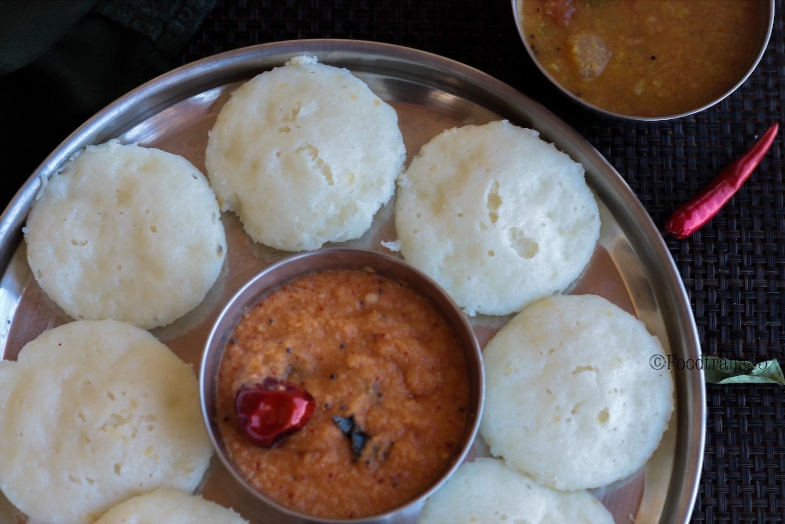Instant Idli with leftover Rice