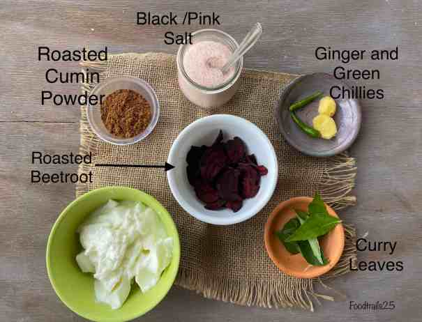 Ingredients for Beetroot Chass