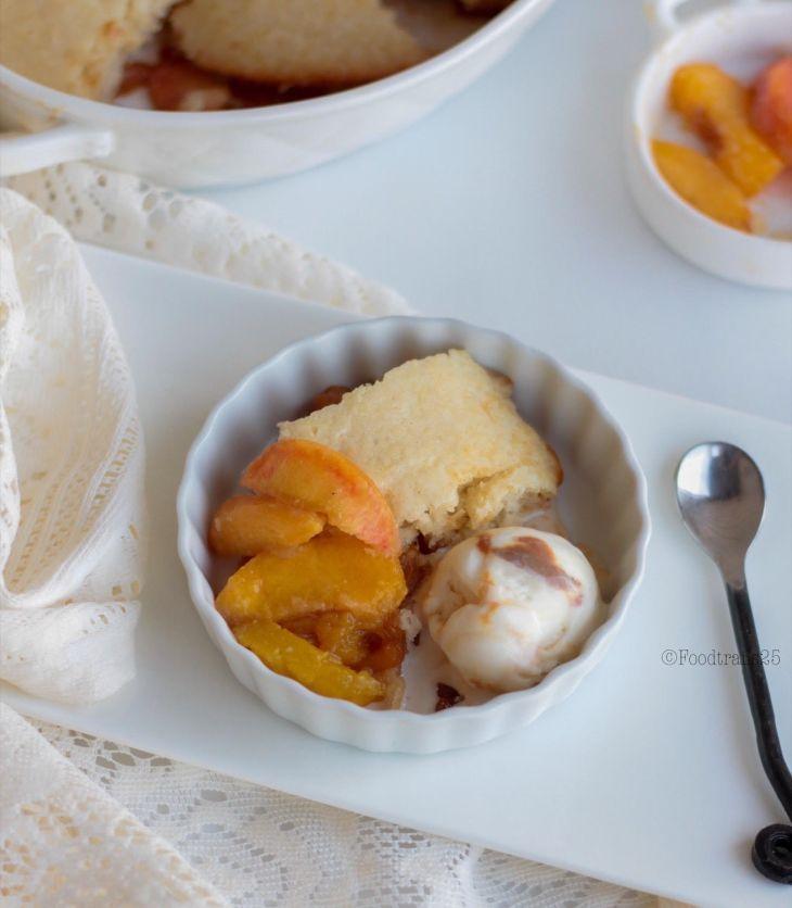Peach and Nectarine Cobbler
