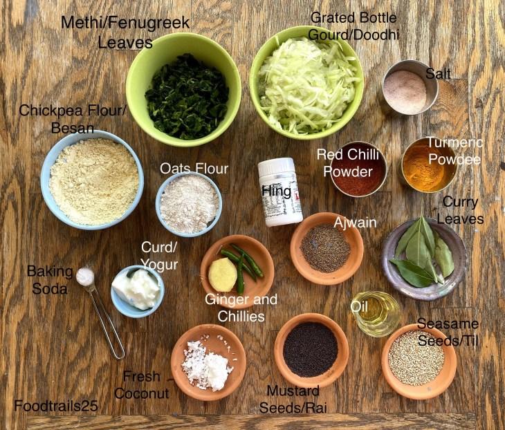 Ingredients Doodhi Muthiya