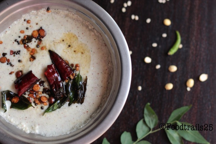 Simple Coconut Chutney/Idli Chutney