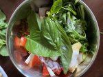 Add basil leaves