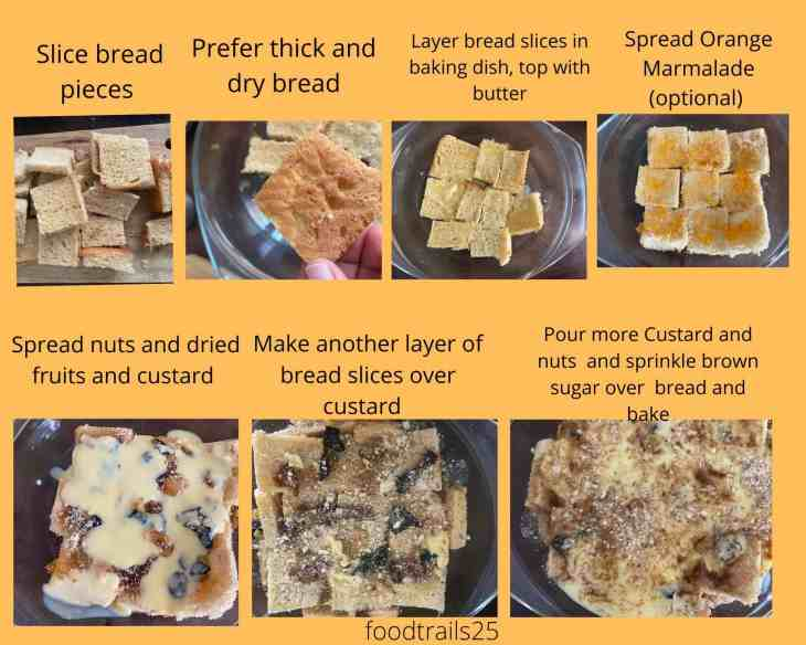 Steps to make Bread Pudding