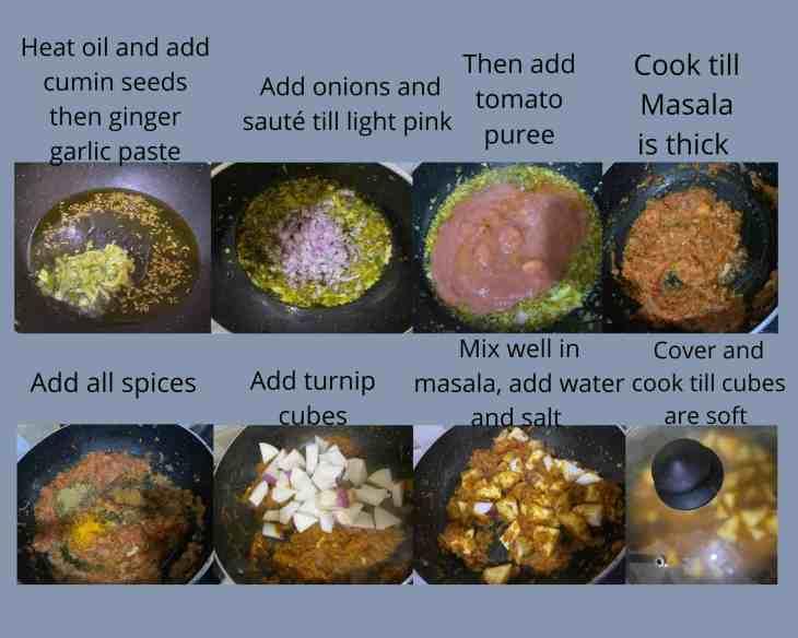 Method Turnip Curry