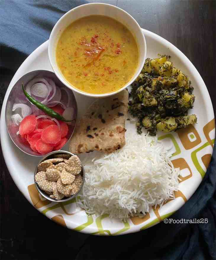 Aloo Methi Combo with Dal Rice