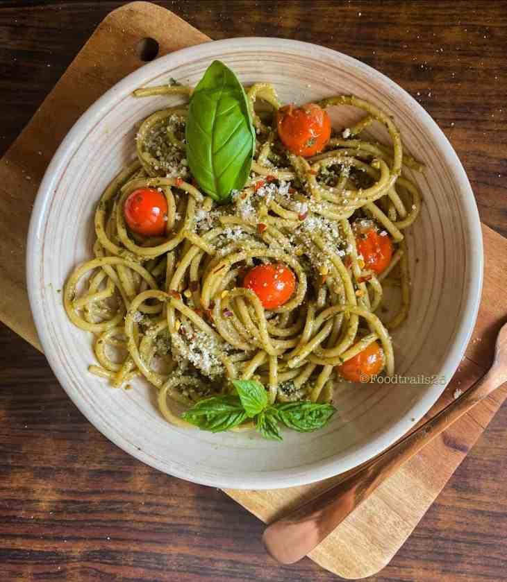 Basil Pesto Pasta in Instant Pot and Stove Top