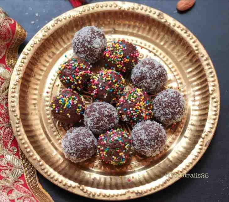 Chocolate Almond Coconut Ladoos/Trufles