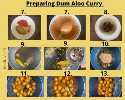 Preparing Dum Aloo | Steps to make Kashmiri Dum Aloo