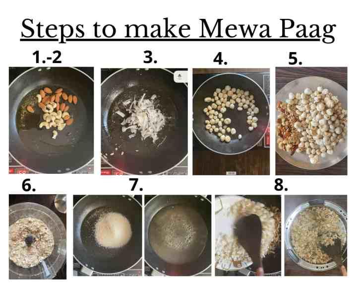 Steps to make Mewa Paag
