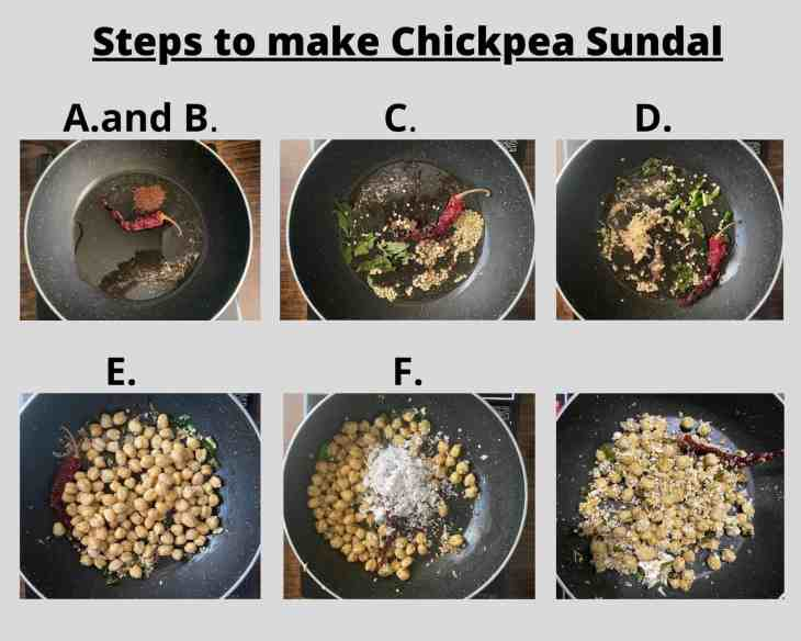 Steps to make Chickpea Sundal