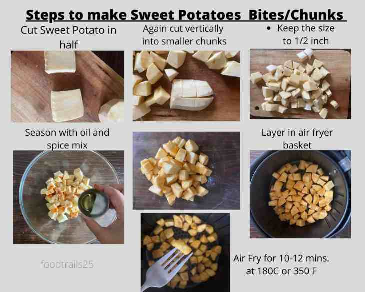 Steps to make Roasted Sweet Potato Air Air Fryer