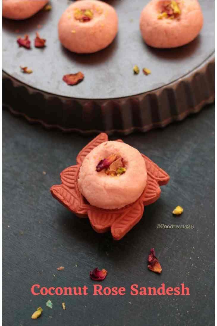Coconut Rose Sandesh