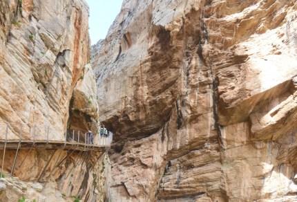 Wandelpad Caminito Del Rey in Malaga, ooit de gevaarlijkste route van Spanje