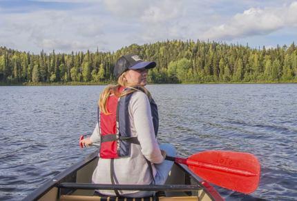 Outdoor activiteiten op het water in Finland