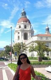 City Hall of Pasadena behind me as background