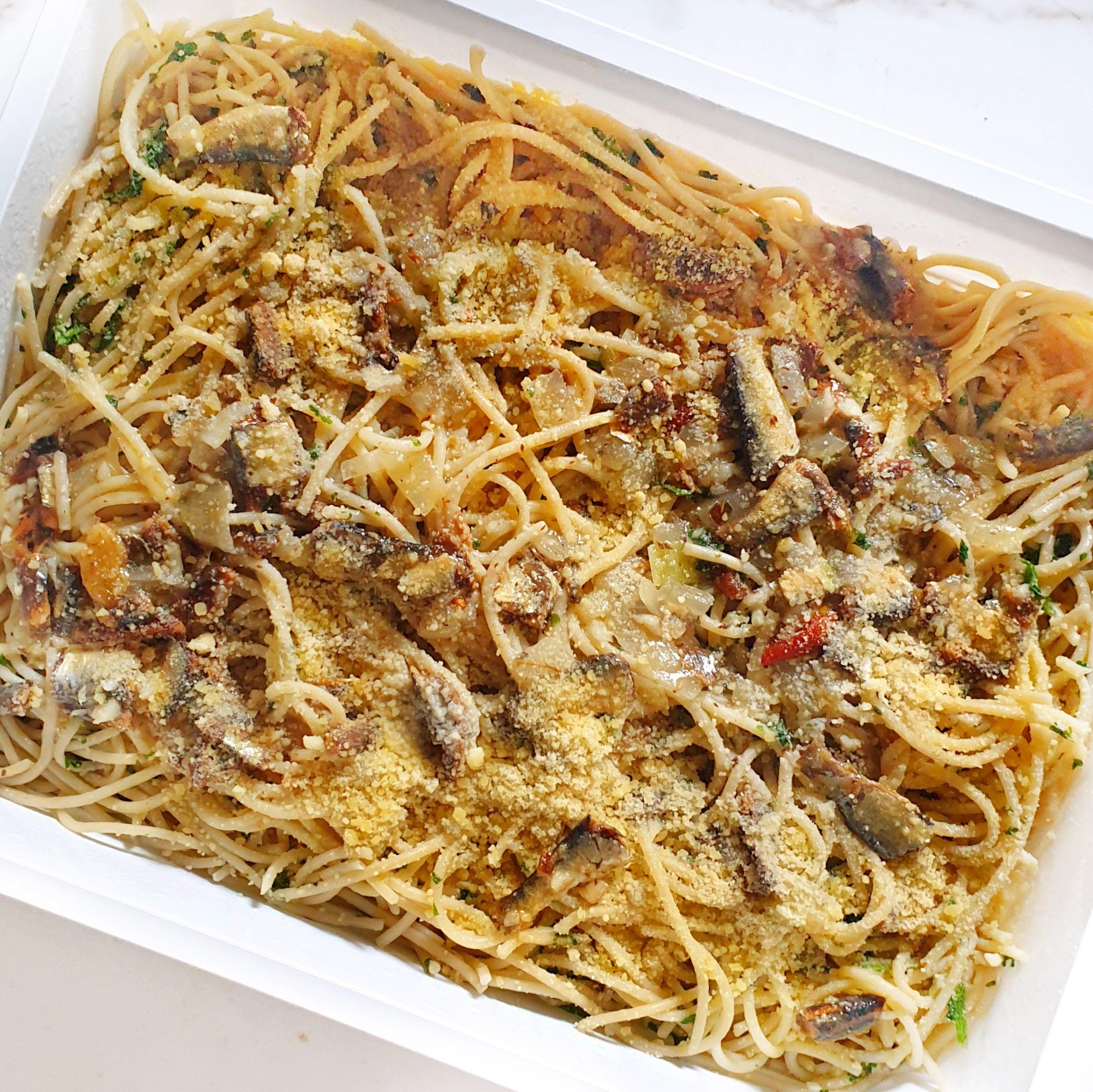 Spaghetti w/ tuyo and garlic
